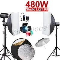 Free Shipping 480W 480Ws GODOX 3*160W 160DI Studio Strobe Flash Light with Softbox Kit