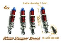 4x 90mm Aluminum Damper shock for Off road car Tamiya HPI HBX B4/T4 Improved
