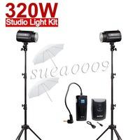 Free Shipping 320Ws GODOX 2 X160W 160DI Studio Strobe Flash Light with trigger 320W Kit