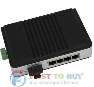 10/100M TCP/IP to Fiber transceiver-4 TCP/IP Port UT-2674SM UTEK NEW