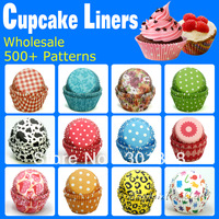 Mixed 400pcs 16 styles cupcake liners baking cups cupcake holder
