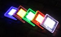 Free ship Square Solar underground LED light  5LED outdoor IP67 Garden Lawn street landscpe light Novelty light