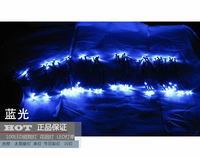 Free Ship 12M Blue/RGB solar LED string light Led strip led lights led garden lights LED christmas lights 100led high quality