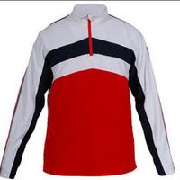 Men half zipper stand collar color block decoration light thermal fleece pullover sweatshirt cb3-a982