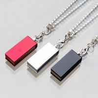 Free shipping Wholesale full capacity 2GB 4GB 8GB 16GB 32GB crystal  rectangle shape 2.0 Memory Stick USB Flash Drive, Q1002