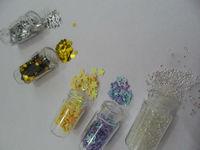 Hot NEW 20 Colors Nail Art Mini bottles Glitter Rhinestone Spangle Powder YNA-0078