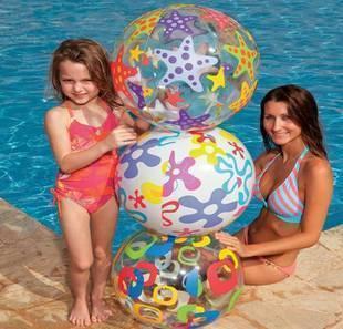Intex multicolour inflatable ball beach ball swimming ball paddle ball 51cm