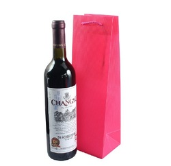 33*10*9cm Free shipping Fashionable pp plastic transparent wine bottle gift paper packing gift bags for wedding ,party,banquet(China (Mainland))