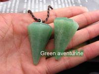 Green Aventurine Feng Shui Crystal Gemstone Point Dowsing Pendulum Scrying Dowser
