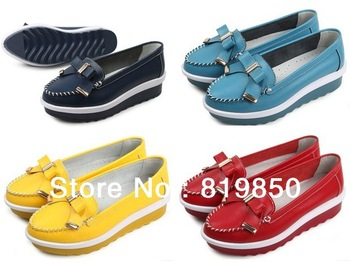 free shipping! 2013 ADVANCE BOOK! Stylish the boat genuine leather casual dress shoes for women 35 36 37 38 39 40