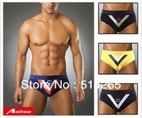 1pcs Modal V Lteer  Men's   Sexy  swimwears     swimming trunks   Triangle Briefs   4colors 3sizes high quality Free Shipping