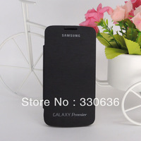 Back cover flip leather case battery housing case For Samsung GALAXY Premier I9260,1pcs/lot,free shipping