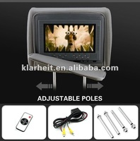 7 inch auto black dvd player headrest