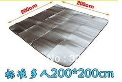 B02 free shipping 200 * 200cm aluminum Waterproof Outdoor Picnic Camping Bay Play Mat,camping mat(China (Mainland))