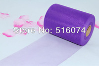 """Free shipping Purple TULLE Roll Spool 6""""x100yd for Wedding Gift Craft Party Bow 6""""x300'"""