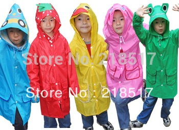 Free Shipping  Children Funny Rain Coat Kids Raincoat Rainwear Rainsuit Waterproof D-361