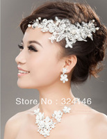 New Luxurious handmade  crystal flower shape headdress wedding jewelry accessories for bride