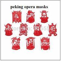 Free Shipping Chinese style crafy paper cutting 6sets/lot peking opera masks