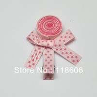 Free Shipping 200pc/lot Sweet Pink Lollipop Ribbon Sculpture Hair Clip Clippies
