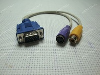 VGA SVGA to RCA S-Video AV TV Adapter Converter Cable