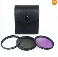 3pcs 58mm CPL+UV+FLD + Cap Filter CASE Kit for Canon EOS 450D 500D 600D 1100D