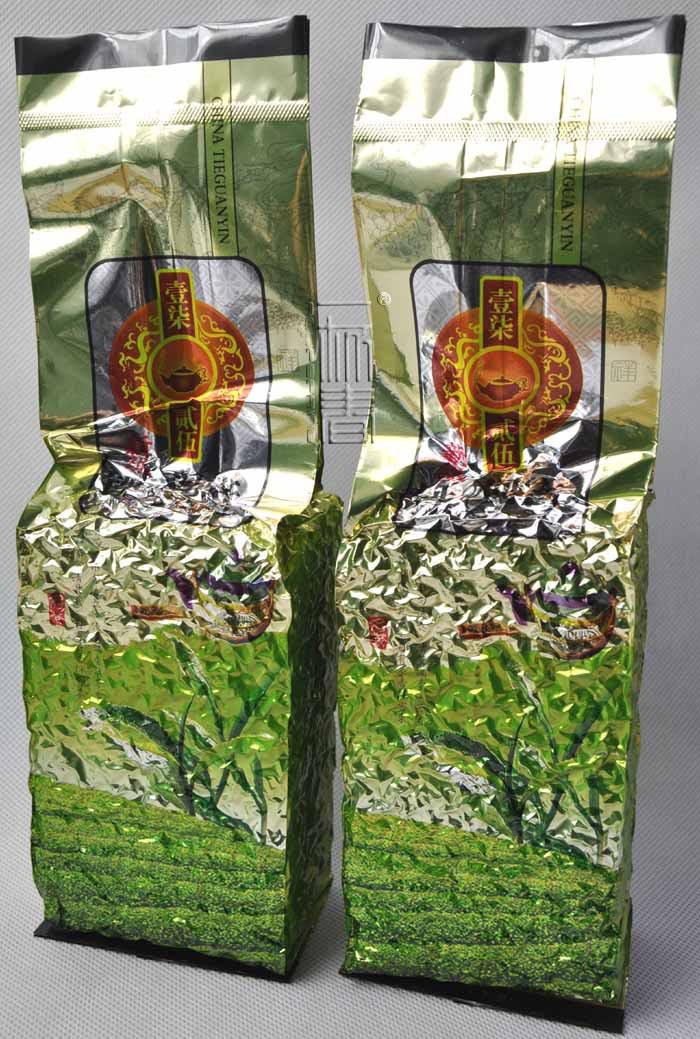 Free Shipping, 250g Chinese Anxi Tieguanyin tea, Fresh China Green Tikuanyin tea, Natural Organic Health Oolong tea(China (Mainland))