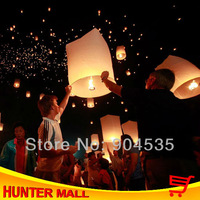 Free shipping 25pcs/lot Cylinder chinese wishing balloon Ufo light sky lamp (Randomly ship Color)