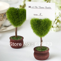 Adorable Heart Shape Topiary Place Card Holder Wedding Favors (SET of 100 PCS) +Wholesale Free Shipping