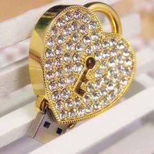 wholesale crystal heart flash drive