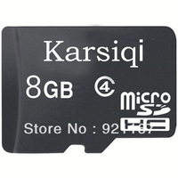 Free shipping! Brand new Karsiqi 8G Class4 Micro SDHC (TF) memory card with SD Adapter and USB Card Reader