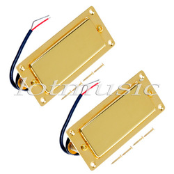 Set Of 2 Golded Mini Pickup Guitar Humbucker Ferrite Pickup Belcat BMH-80 Rohs High Quality(China (Mainland))