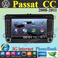 Car DVD Player Radio autoradio GPS navigation Car Stereo For volkswagen Passat CC  2008-2011 + 3G internet + Free  map