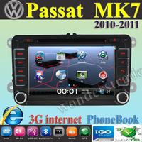 Car DVD Player Radio autoradio GPS navigation Car Stereo For volkswagen Passat MK7  2010-2011 + 3G internet + Free  map