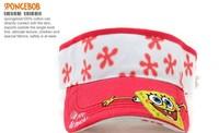 Free shipping 2013 New fashion popular Bonnet  Spongebob Squarepants children hat sunbonnet children empty top hat 0150