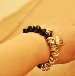 Min.order is $10 (mix order) B121 fashion personality manual beads bracelet bangle jewelry !Free shipping! cRYSTAL sHOP(China (Mainland))