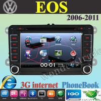 "7"" Car DVD Player Radio autoradio GPS navigation Car Stereo For volkswagen EOS 2006 -2011 + 3G internet + Free  map"