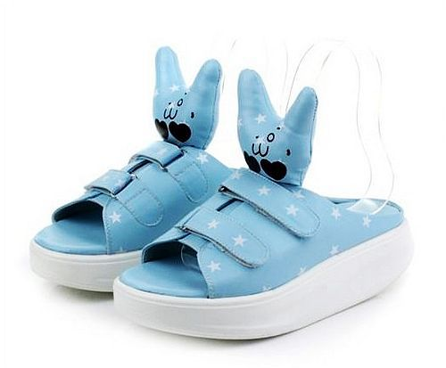 Free shipping lovely Cartoon rabbit women summer shoes(China (Mainland))