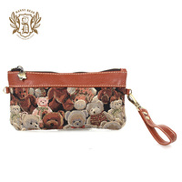 2013 DANNY BEAR Camouflage coffee ladies purses multi-purpose wallet messenger bag clutch women's handbag DB11543