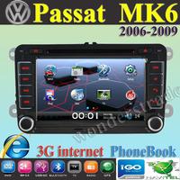 Car DVD Player Radio autoradio GPS navigation Car Stereo For volkswagen Passat MK6  2006-2009 + 3G internet + Free  map