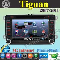 "7"" Car DVD Player Radio autoradio GPS navigation Car Stereo For volkswagen Tiguan  2007- 2011 + 3G internet + Free  map"
