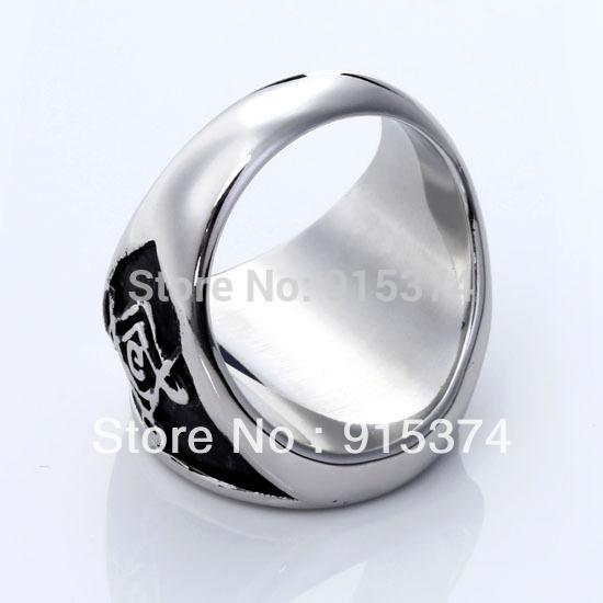 Freemason Ring Finger Templar Symbol Finger Ring