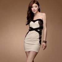 Smoke color matching 118605 lady slim one-piece dress
