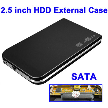 Black Fit for any Serial ATA 2.5 inch HDD SATA External Case