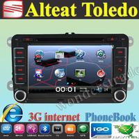 "7"" Car DVD Player Radio autoradio GPS navigation Car Stereo For Seat Alteat Toledo + 3G internet + Free  map"