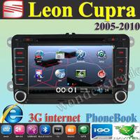 "7"" Car DVD Player Radio autoradio GPS navigation Car Stereo For Seat Leon Cupra + 3G internet + Free  map"