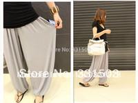 Plus size 6 colors L-XXXL wholesale Hot sale casual modal bloomers wide leg pants yoga sport costume trousers elastic waist