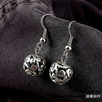 Silver jewelry handmade earrings national trend miao silver tibetan silver drop earring earrings 4012