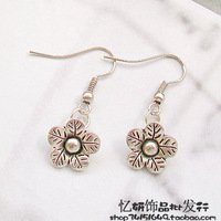 Tibetan miao silver hot-selling promotion handmade diy gentlewomen earrings drop earring 10267