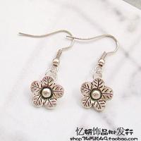Tibetan miao silver hot-selling promotion handmade diy gentlewomen earrings drop earring 10267