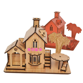 Laser sculpture 3d puzzle model wooden model puzzle adult